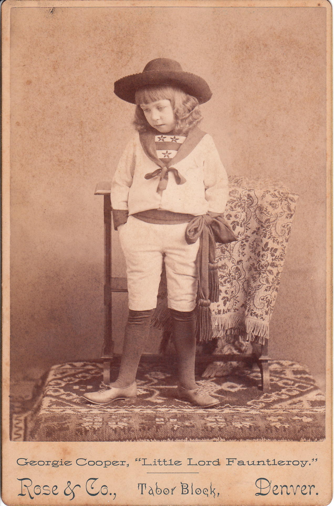 Georgie Cooper Child Actress Playing Little Lord Fauntleroy The Cabinet Card Gallery