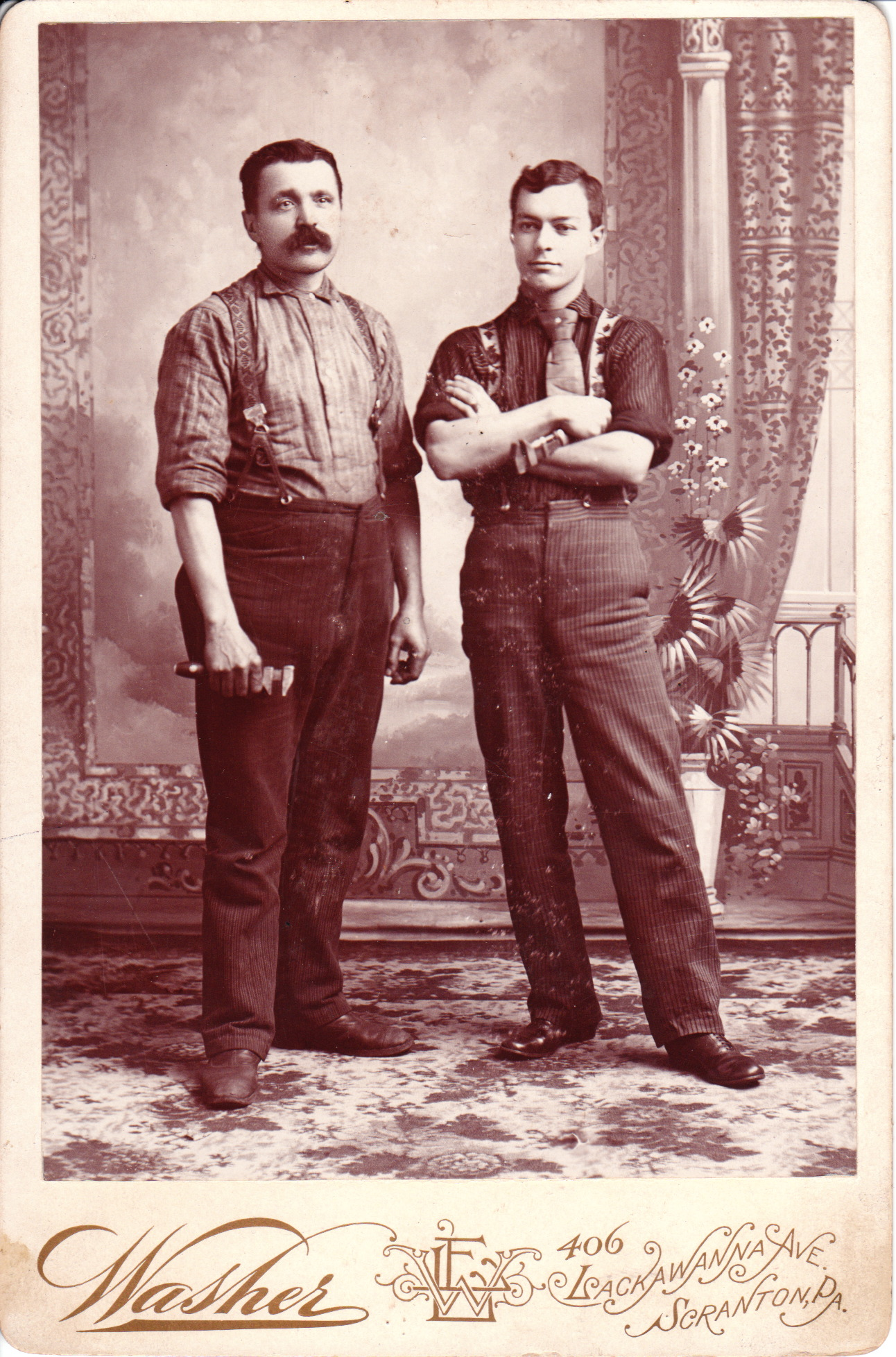TWO PLUMBERS IN SCRANTON, PENNSYLVANIA | THE CABINET CARD GALLERY