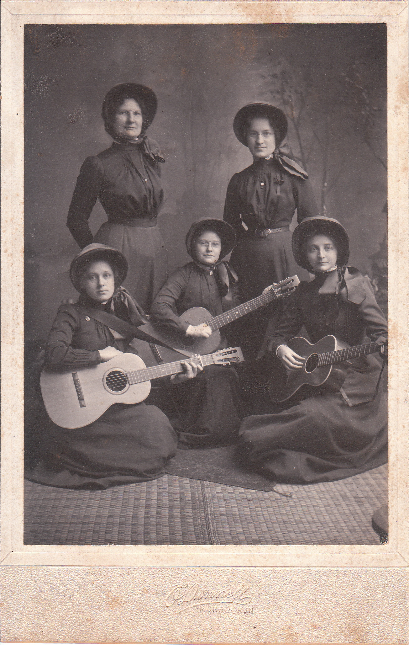 FIVE SALVATION ARMY WOMEN AND THREE GUITARS IN MORRIS RUN ... 8d44bf59cff