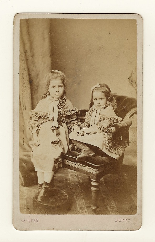 The Little Girls Featured In This Cartes De Visite Are Adorable They Also Well Dressed Their Dresses Adorned With Frills And Bows