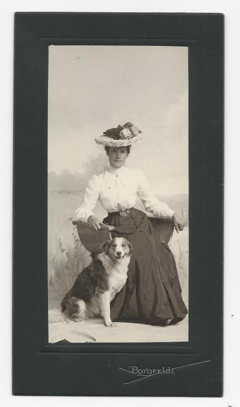 woman-and-dog