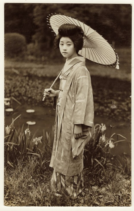 asian woman kimono