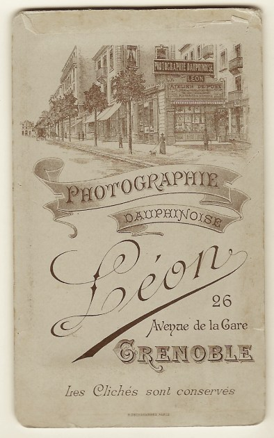 The Soldier Pictured In This Carte De Visite Served French Military An Illustration Of Leons Gallery Can Be Seen On Reverse Cdv