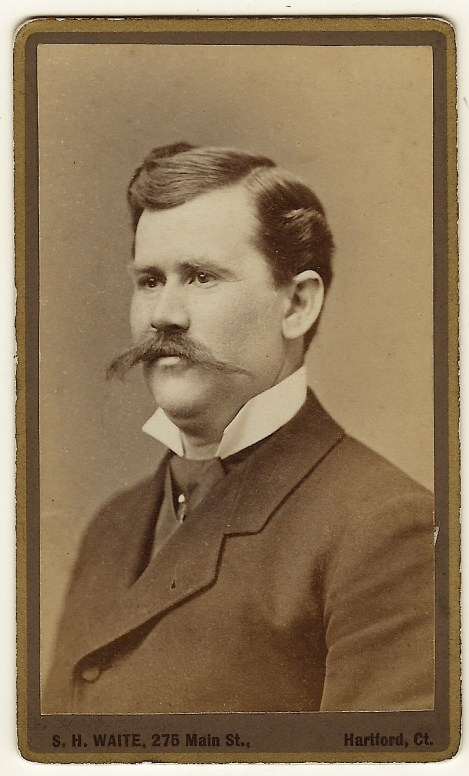 This Carte De Visite Portrait Features A Well Dressed Handsome Gentleman Wearing Handlebar Mustache Photo As Taken By S H Waite Who Operated