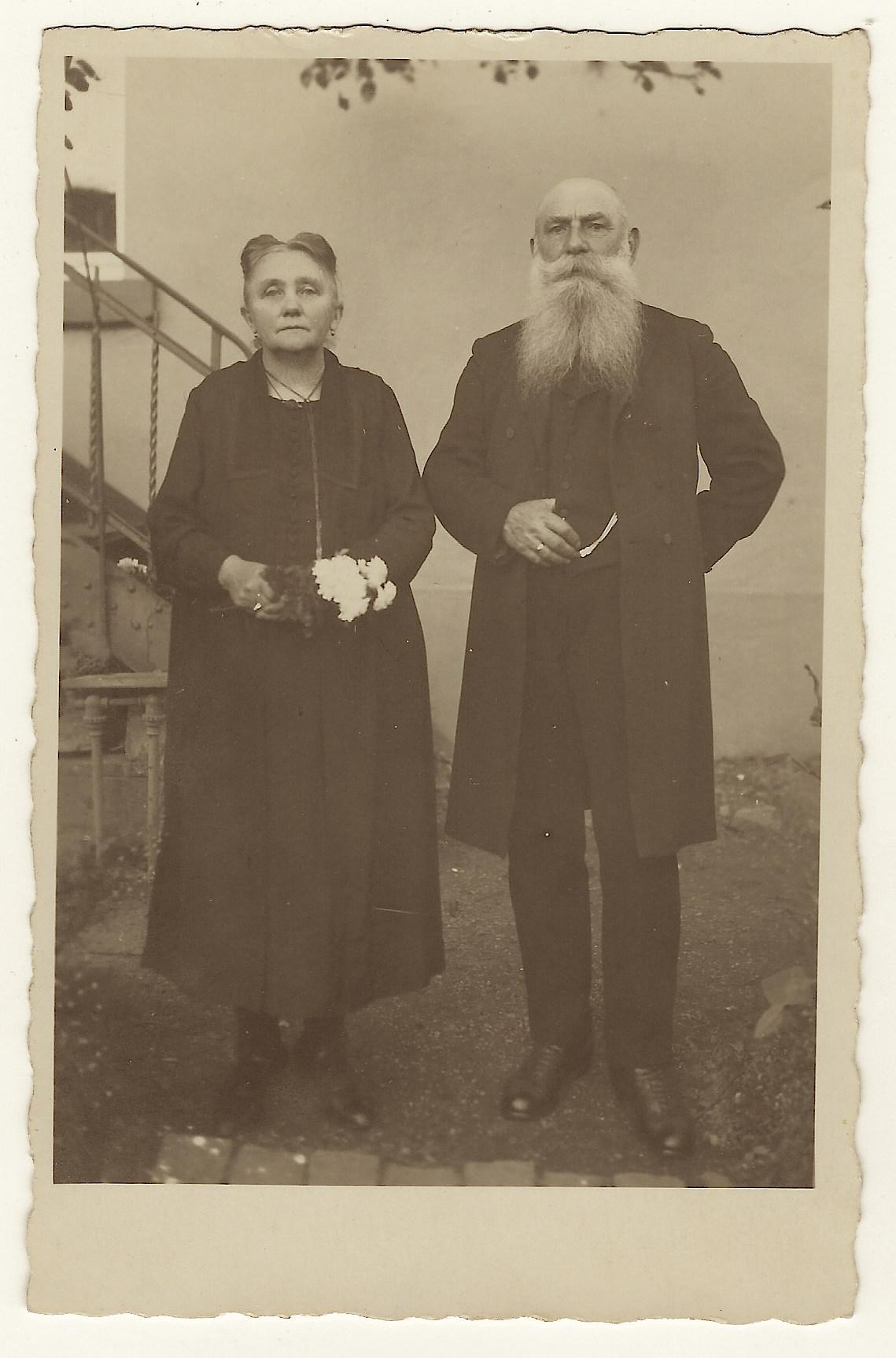 elderly couple distinguished