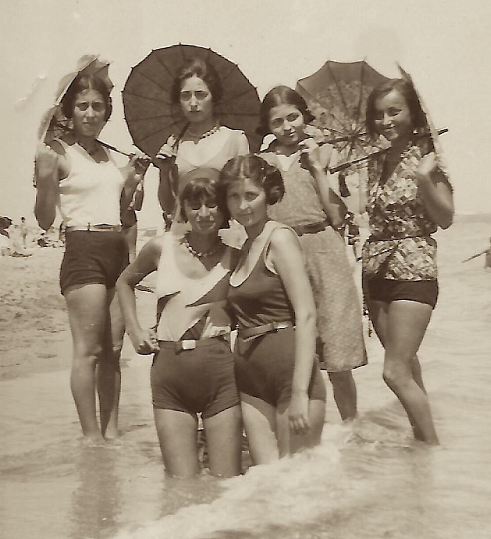 girls at beach roumania 2