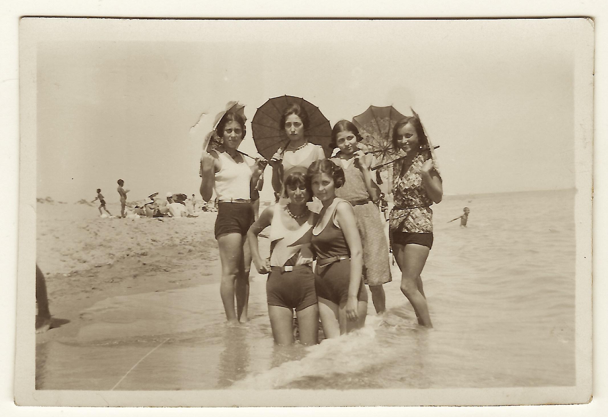 girls at beach roumania