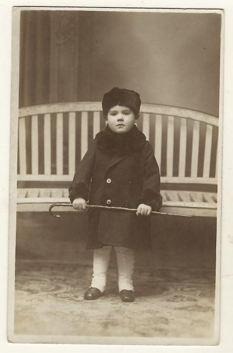 boy with cane